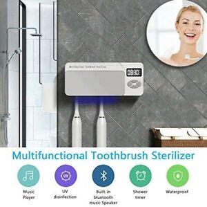 Toothbrush Sterilizer UV Wall Mounted Holder Bluetooth Speaker USB Charge BNIB