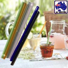 5pcs Glass Straw Pipe For Drinking Milk Juice Cocktail Color Random HKTU537x5