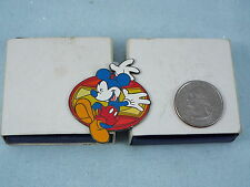 DISNEY PIN MICKEY MOUSE DANCING BLUE, RED, & YELLOW
