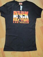 WE Will Rock You Las Vegas Black Womens Short Sleeve T-Shirt Small S Queen New