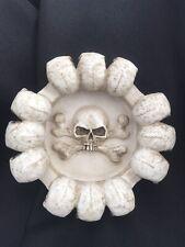 Skull Ashtray Veronese Studio Collections Nos Mythical Fantasy Smoking Resin 5.5