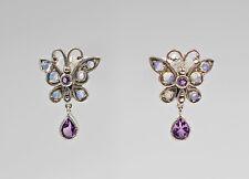 9927259 925 argent opal-amethyst-ohrringe style antique papillon