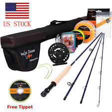 Fly Fishing Rod Combo 9Ft 5Wt Fly Fishing Line Fly Reel Fly Line Backing Leader