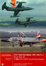 Dutch Decals 1/72 F-104G STARFIGHTER Royal Neth AF & T-33A Soesterberg Eagles