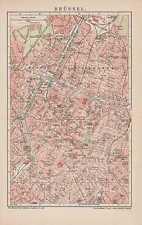 Brüssel Saint-Gilles Schaarbeek Stadtplan von 1904 Saint-Josse-ten-Noode Ixelles