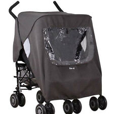 Double-Twin/Buggy/Pushchair Stroller Raincover fits Maclaren OBaby Mamas & Papas
