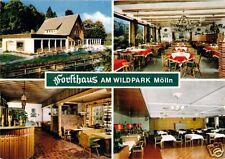 """AK, Mölln in Lbg., Gaststätte """"Forsthaus am Wildpark"""", 4 Abb., um 1980"""