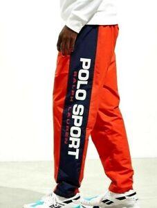 Polo Sport Ralph Lauren Freestyle Track Pants Jogger Orange Navy L, XL, 2XL