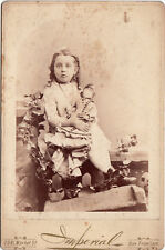 CUTE LITTLE GIRL WITH LARGE DOLL ~ SAN FRANCISCO, CALIFORNIA ~ c. - 1885