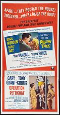 PILLOW TALK/OPERATION PETTICOAT orig large 3-sheet poster DORIS DAY/CARY GRANT