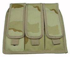 Desert Camo Triple Magazine Clip Pouch Drop Leg Assembly Air BB 3 Mag Gun 212D