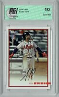 Ozzie Albies 2018 Topps Rookie Review #6 1435 Made Rookie Card PGI 10