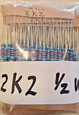 10 x 2.2K OHM 1/2 watt 1% metal film resistors 2K2 USA SELLER