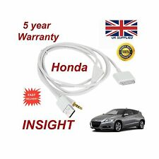 Para Honda Jazz iPhone 3GS 4 4S iPod USB y 3.5 mm Cable Aux Reemplazo Blanco
