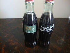 1996 Olympics---Torch Relay---Coca-Cola Bottles---Lot Of 2---8 Oz.---Full
