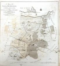 KENT, 1797 - ORIGINAL ANTIQUE MAP of Hundreds of BOUGHTON & BLEAN - HASTED.