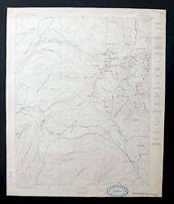La Plata Colorado Rare Antique 1897 USGS Topo Map Hesperus Peak Topographic