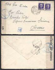 POSTA MILITARE 1941 Lettera PA da PM 22 a Arezzo (D3)