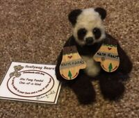 "OOAK Beautiful Wool Artist Miniature Panda ""Shu Fang"" by Scalywag Bears 3.5"""