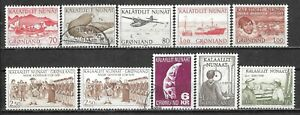 1972-1980 GREENLAND 4 USED + 6 MNH STAMPS (Mi.# 82,83,98,99,104,110,111,115,125)