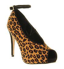 Tiermuster Stiefel mit sehr hoher Absatz für Damen