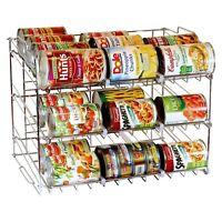 3Tier Stackable Can Rack Organiser Food Storage Rack Kitchen Organizer Shelves