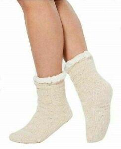 Charter Club Womens Chenille Slipper Socks Ivory