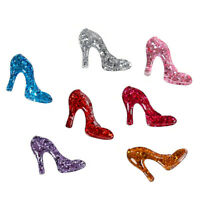 DIY Multipurpose 25x32mm Glitter Resin High heels Cabochons Craft Decors 20 pcs