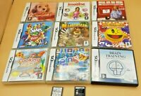 Nintendo DS Games used most in case with instructions 11 titles to choose VGC