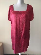 DIESEL 100% Silk Mulberry Red Dress Holiday Party Size S