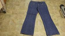 F L JEANS Boot Cut 4 Pocket  Stretch Cotton Jeans 36X31 Women's #3443