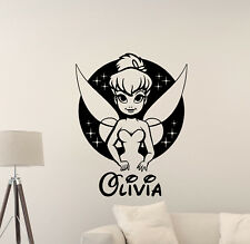 Personalized Girl Name Tinkerbell Wall Decal Vinyl Sticker Walt Disney Decor 862