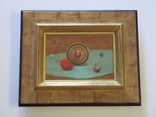 CHINESE  PAINTING SURREAL SPINNING TOP TOY TROMPE L'OEIL  ASIAN MODERN REALISM