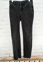 ANN TAYLOR The Boot Curvy Fit Jeans - Size 6P - Black Denim Wash Cotton Stretch