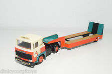 TEKNO SCANIA 141 TRUCK WITH TRAILER LOWBED LOMMERTS NEAR MINT CODE 3 RARE SELTEN