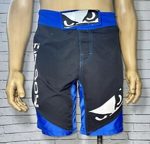 Bad Boy Legacy Fight Shorts Mens Size Small Pro Series Training Gym MMA Blue