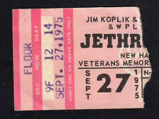 1975 Jethro Tull concert ticket stub New Haven CT Minstrel The Gallery
