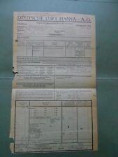 #8152 Germany German Lufthansa extremelly rare document 1932