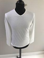 Jil Sander Mens Long Sleeve T-Shirt, Brand New, White Size M