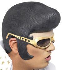 Hombre con Licencia Elvis Presley Disfraz Látex Auricular por Smiffys