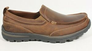 Skechers Superior - Gains 63697EW Casual Slip On Shoes, Men's Size 10EW, Brown