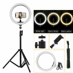 10 inch PRO dimmable LED ring light makeup selfie live phone tripod  folding