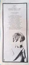 U2 - I WILL FOLLOW SINGLE + TOUR DATES 1980 RECORD MIRROR UK PRESS ADVERT vgc