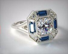 Certified 3.89CT Round Cut Diamond Glory Engagement Wedding Ring 14K White Gold