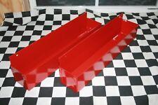 2 - RED WALL MOUNT FLASHLIGHT mag tray snap 2 use hang on wall /workbench closet