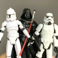 3 Star Wars Stormtroopers OTC Trilogy Darth Vader No.5 Clone Trooper Figure Toys