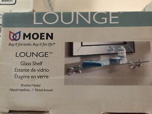 Moen DN7790SN Lounge Glass Shelf Brushed Nickel.