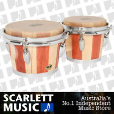 "Mano Percussion MP Bongo Drums - 7"" & 8"" Skin Head 2 Tone Wood Bongos - MP-714"