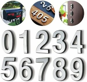 """3D 0-9 Brass Mailbox Numbers 4"""" Self-Adhesive Door Numbers Address House Numbers"""