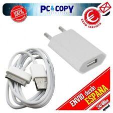 Cargador red corriente USB+cable PARA iphone 4 4S 3 3GS iPad 2 5V 1A blanco comp